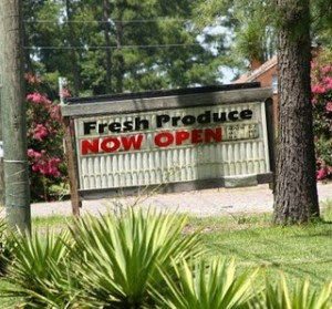 Fresh Produce . . . Now Open!